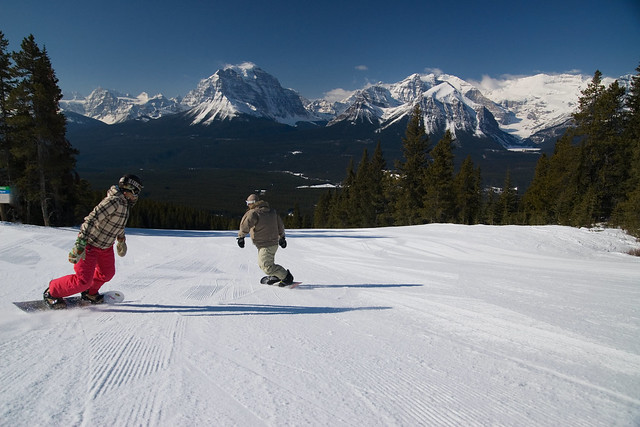 Banff's Next Top Models at Lake Louise Ski Area Photo by Andrew Schwarz