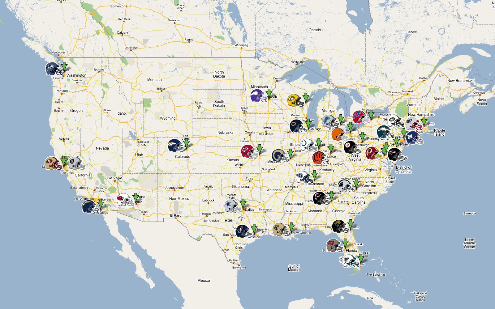 Nfl Franchise Map Flickr Photo Sharing