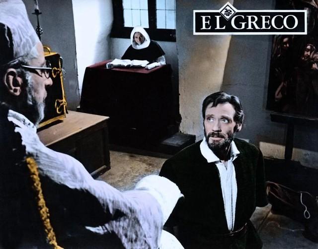 Mel Ferrer  en Toledo durante la grabación de la película El Greco en 1964