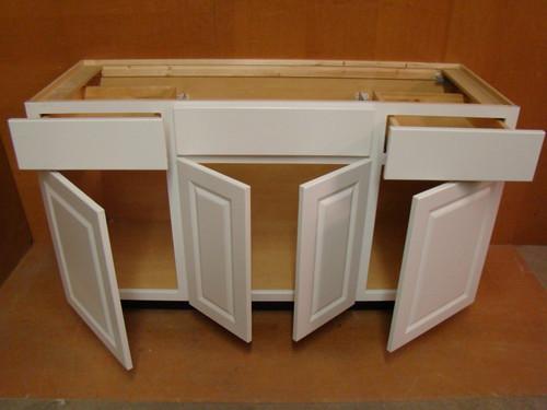 kraftmaid white bathroom vanity sink base cabinet 60 w ebay. Black Bedroom Furniture Sets. Home Design Ideas