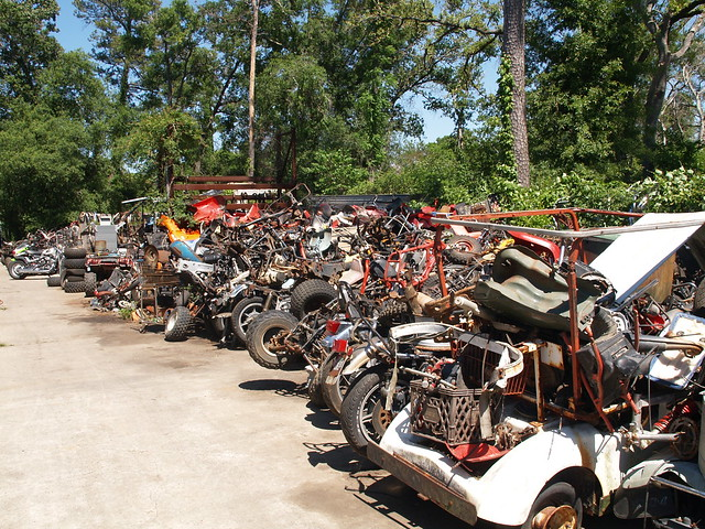 motorcycle salvage yards Land's Cycles 2010 Bone yard junkyard parts