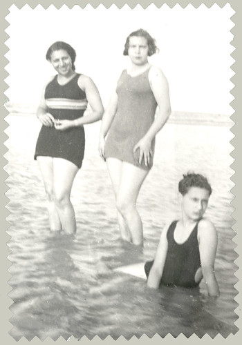 Three youngsters in the surf