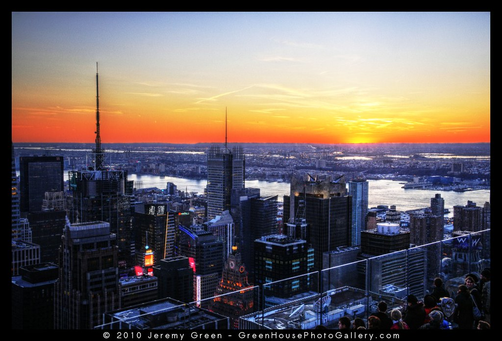 Sunset at the Top of the Rock
