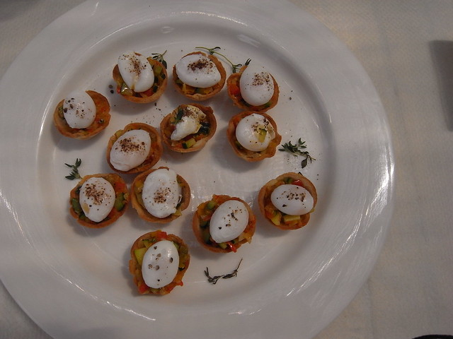 Quail egg canapes flickr photo sharing for Quail egg canape