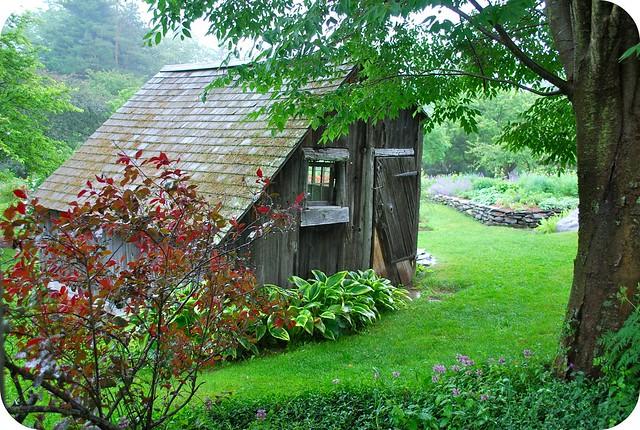 An old barn at the Berkshire Botanical Gardens.