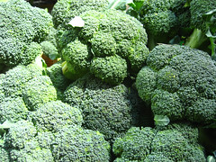 broccoli(1.0), vegetable(1.0), flower(1.0), leaf vegetable(1.0), green(1.0), produce(1.0), food(1.0), broccoflower(1.0),