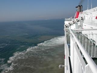 half astern  ready to drop anchor
