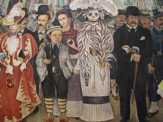Detail from Sueño de una tarde dominical en la Alameda Central, Museo Mural Diego Rivera | by catenjohn