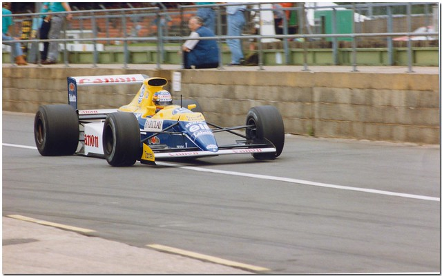 Mark Blundell Williams Renault FW13B F1. 1990 British GP Test Silverstone.