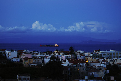 Chios at dusk. by olympic
