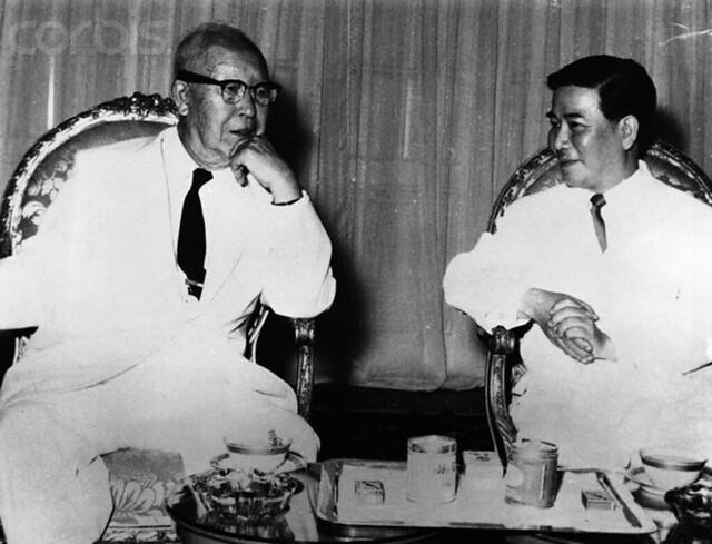 TT Diệm tiếp TT Hàn Quốc Syngman Rhee - 1958