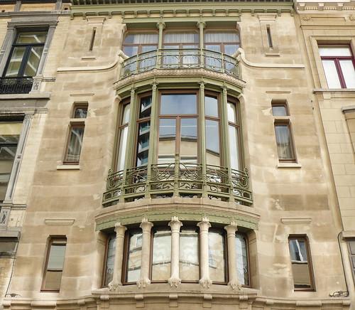 Bruxelles art nouveau (Belgique), Ixelles, rue Paul-Emile Janson, hôtel Tassel, Victor Horta architecte, siège de l'EUFIC (European Food Information Council)