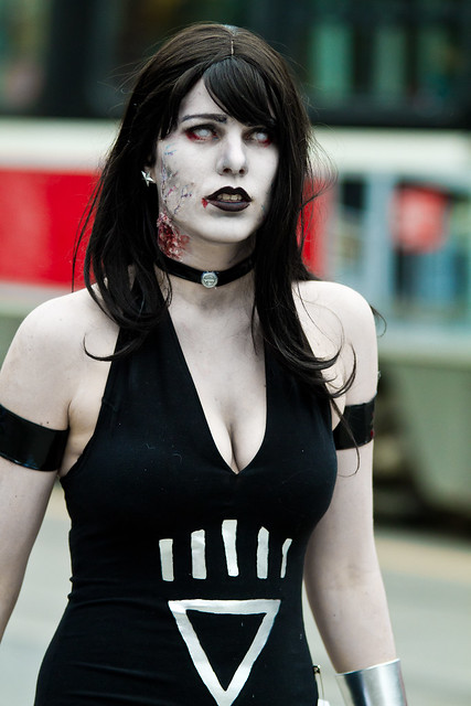 Sexy Zombie Donna Troy Black Lantern from the Toronto Zombie Walk 2010