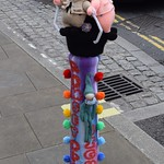 Yarn Bombed Bollard
