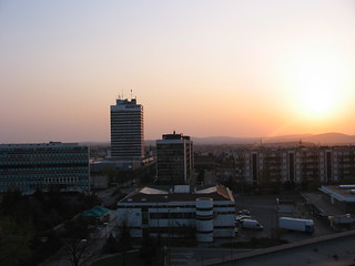 Veszprém at sunset