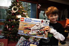 nick with a lego star wars republic fighter tank fro…