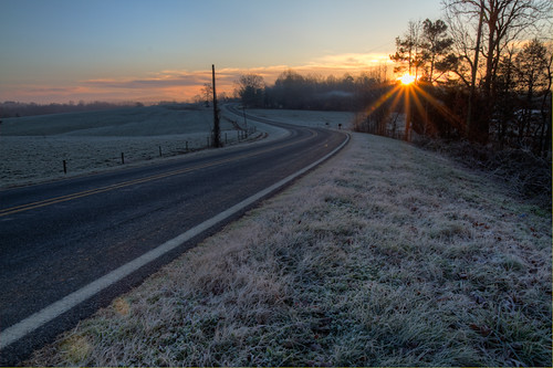 road sunrise northcarolina fields curve hdr randolphcounty brentwalker