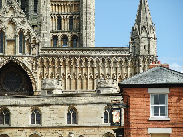 La catedral de Lincoln, Lincolnshire, Inglaterra.