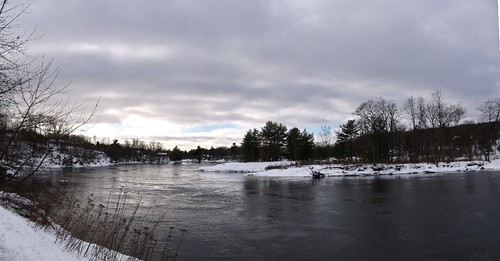 trees sky panorama snow ice water clouds stitch maine first brunswick try hugin macbook androscogginriver