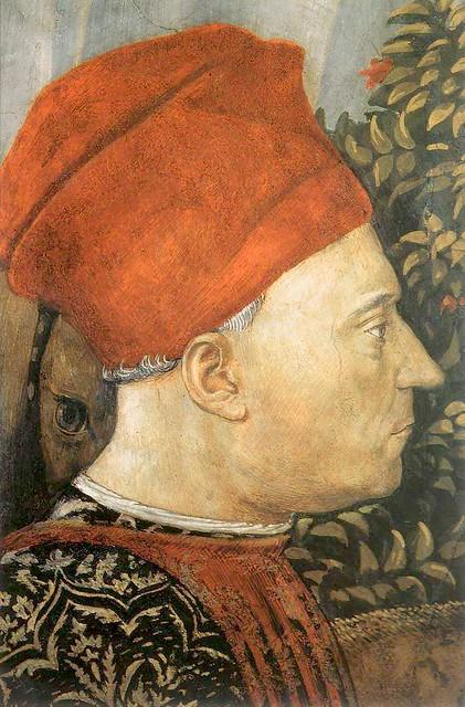 Benozzo Gozzoli - detail, head of Giovanni di Piero de' Medici, detto il gottoso