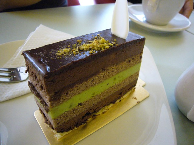 Pistachio Chocolate Opera Cake | Flickr - Photo Sharing!