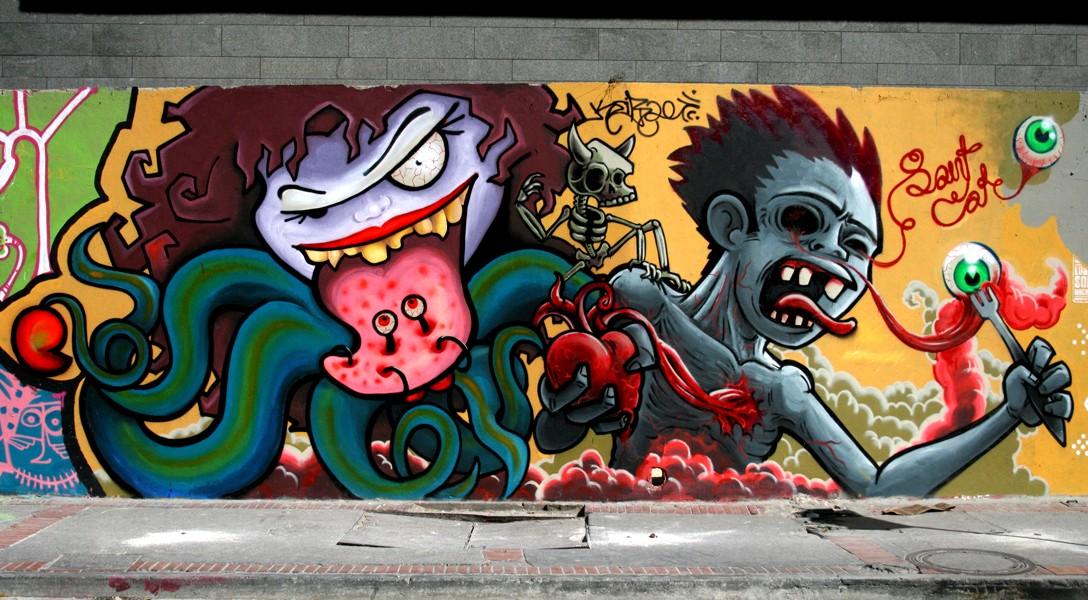 El graffiti arte en su libre expresion taringa - Graffitis en paredes ...