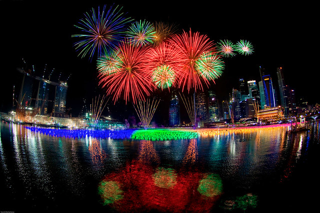 Singapore New Year 2010 Fireworks