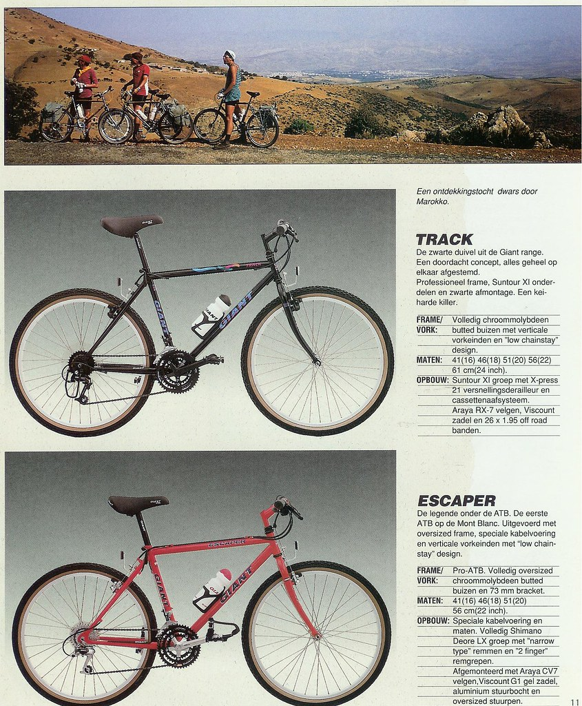 Giant Track 1990/91?, Suntour gearing, Dia comp X-1 | Retrobike