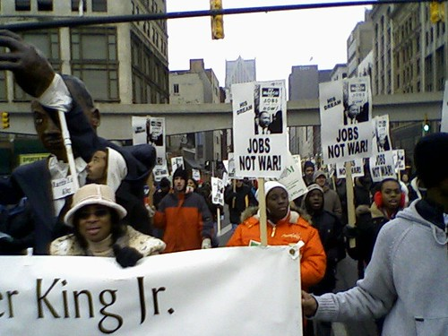 Detroit Dr. Martin Luther King, Jr. Day march held annually to honor the anti-war and social justice legacy of the martyred civil rights leader. The event was held on January 18, 2010. (Photo: Abayomi Azikiwe) by Pan-African News Wire File Photos