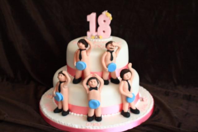 Happy Birthday Stripper In A Cake