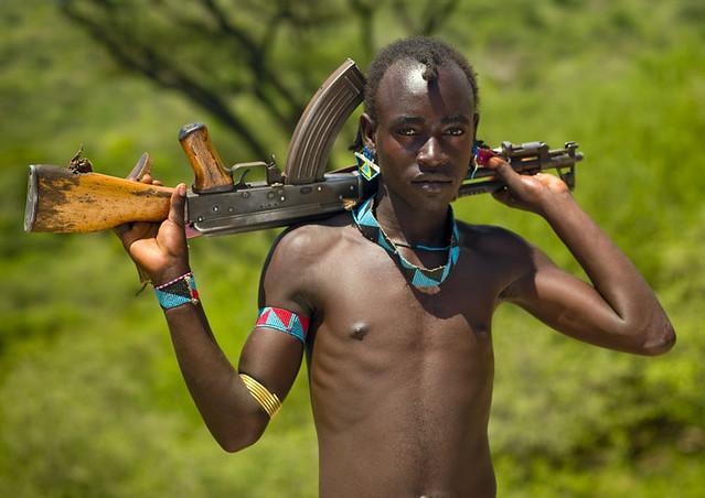 Tsamai warrior - Omo valley Ethiopia