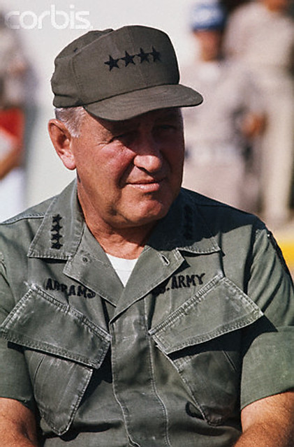 General Creighton Abrams, commander of US Forces in Vietnam (1968-72). The M1 Abrams tank is named after him