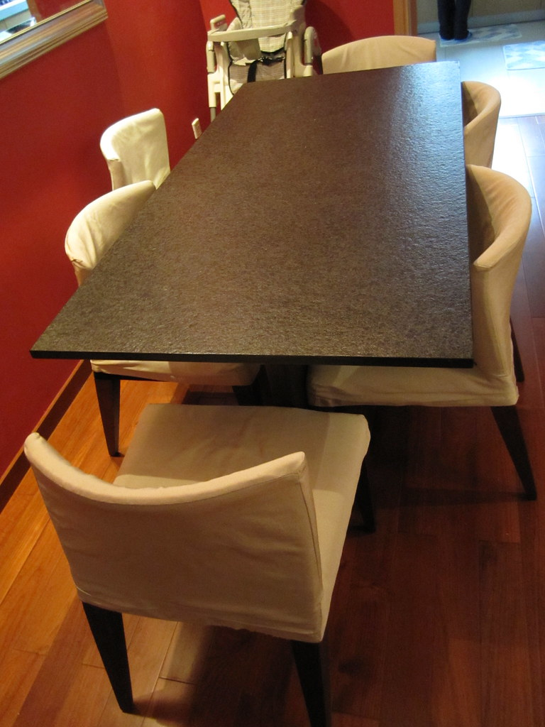 Granite Dining table/6 chairs