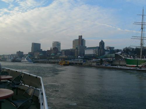 Hamburgs Hafen-Skyline