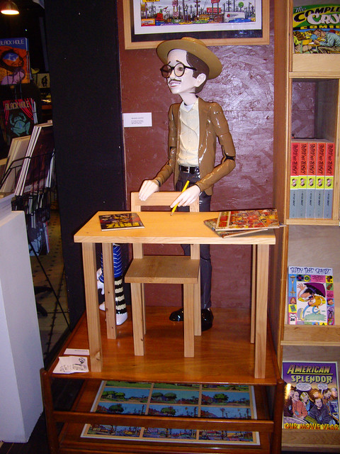 R. Crumb at his book signing at Fantagraphics