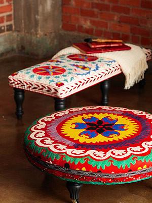 DIY Rolling Ottomans