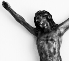 art, religious item, sculpture, monochrome photography, black-and-white, statue,