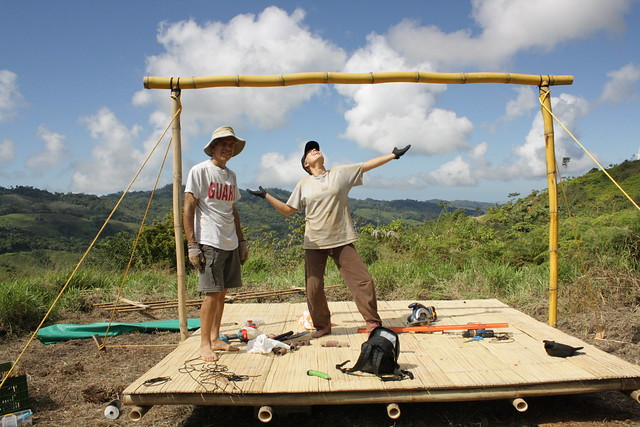 Building bamboo tent platforms flickr photo sharing for Tent platform construction