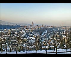 Switzerland Bern February 16,2010 Sunrise
