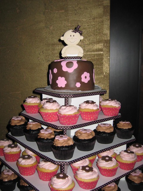 Baby Shower cupcake tower Flickr - Photo Sharing!