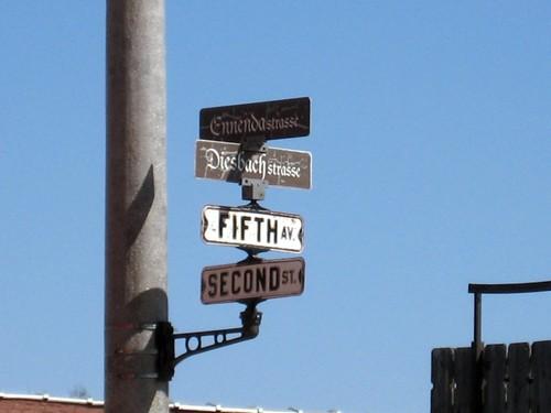 Street sign…