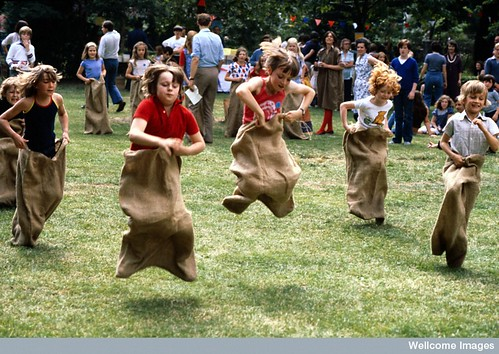 Primary school children, sports day