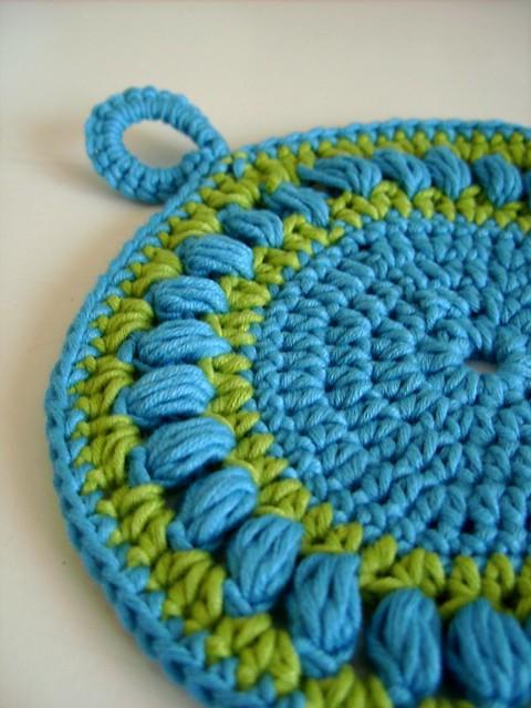Round crochet pot holder - easy crochet pattern Flickr ...