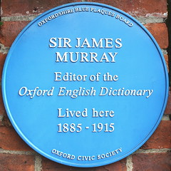 Photo of James Murray blue plaque