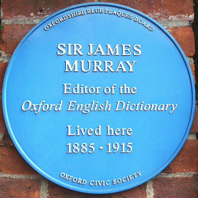 Photo of James Murray blue plaque