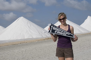 Jen ('06) at the Salt Mines in Kralendijk, Bonaire, Netherland Antilles