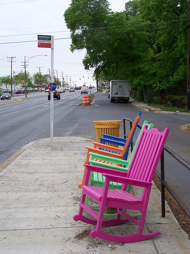 Bus stop on New Hampshire Avenue in Takoma Park, Maryland