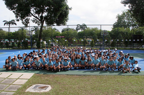 Students from United World College of Southeast Asia in Singapore do the Big Squat!