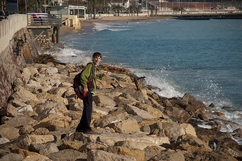 Alex in Cannes, France, on the shores of the French Riviera
