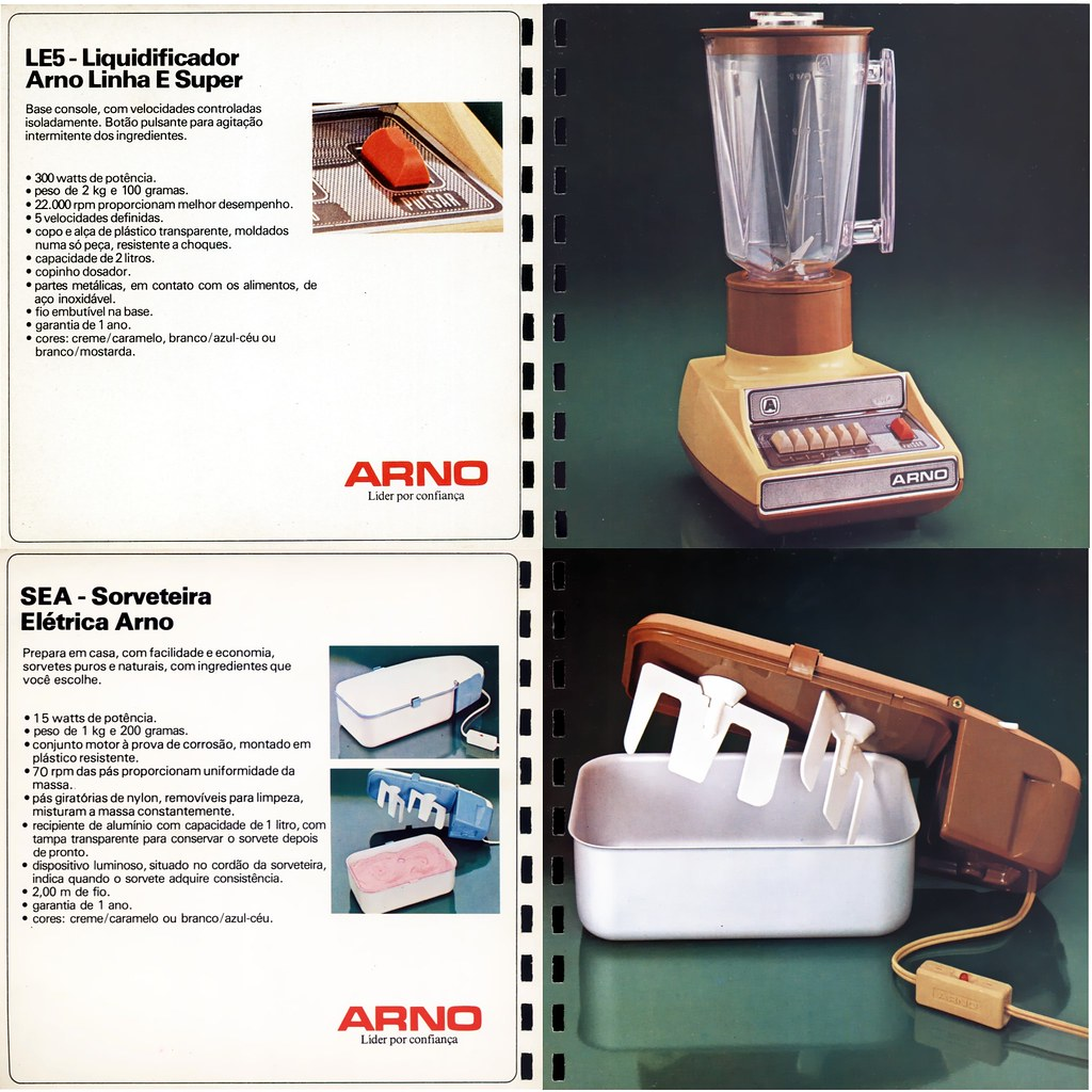 1984 Arno catalog 11 - LE blender and ice cream maker